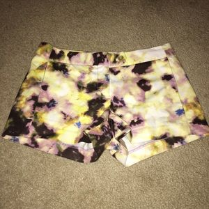 J. Crew Stretch Multicolor Shorts Size 2